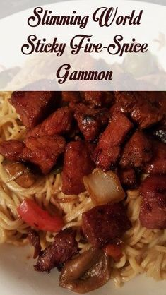 Sticky 5 Spice Gammon - Slimming World Recipe - Shell Louise astuce recette minceur girl world world recipes world snacks Slimming World Pork Recipes, Slow Cooker Slimming World, Slimming World Pasta, Slimming World Dinners, Slimming Eats, Slimming World Sticky Chicken, Slimming World Fakeaway, Slow Cooker Recipes, Cooking Recipes
