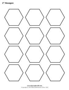 3 inch hexagon pattern. Use the printable outline for crafts ... : quilt hexagon template - Adamdwight.com