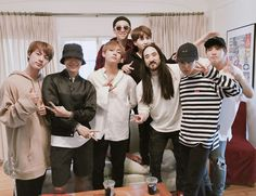 [BTS Tweet] ❤ BTS with Steve Aoki~ #BTS #방탄소년단