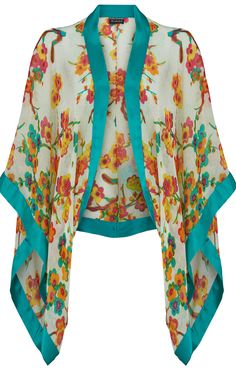 (wear something like this over a white dress or white pants & top - boho kimono for spring summer - article - http://www.boomerinas.com/2015/04/07/7-florals-for-spring-summer-color-your-wardrobe/