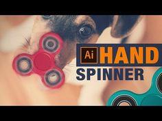 Apprendre à créer un Hand Spinner à l'aide des formes de base, de l'outil Pathfinder et des options 3D extrusion et biseautage d'Illustrator CC. Photoshop, Hand Spinner, Aide, Illustrator, Software, Program Management, Illustrators