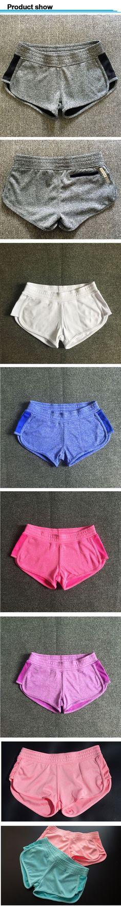 Aliexpress.com  Comprar Mujeres pantalones cortos para correr gimnasio  deporte ocio cintura elástica mujeres Shorts mujer ocasional Yo Ga corto  Feminino de ... fb59dabcc0fc