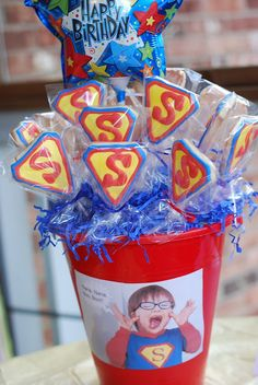 Super Hero Party! I love all the elements of it.