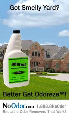 Odoreze Natural Yard Concrete Odor Eliminator Gets Smell Out Without Chemicals This Safe Concentrated Deodorizer Makes 125 Gallons Works