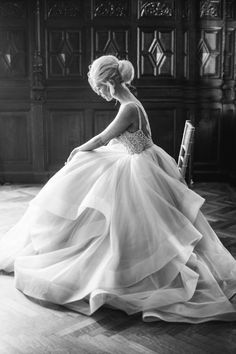 Gorgeous cascade of fabric. Wedding Dress Inspiration Photographed by Justin and Mary Marantz. Gown: Dori by Hayley Paige Bridal Photography, Wedding Photography Inspiration, Wedding Inspiration, Wedding Ideas, Photography Ideas, Photography Portraits, Bridal Gowns, Wedding Gowns, Wedding Styles