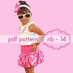 Download Bouncing Bubble Skirt or Skort (nb-14) Sewing Pattern | Featured Products | YouCanMakeThis.com - Perfect for Lily-Grace!!