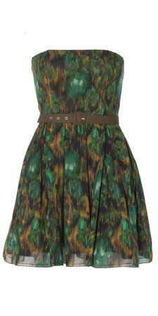 Alice + Olivia Shelly Strapless Dress With Belt