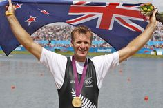New Zealand's Mahe Drysdale after taking gold in the Olympic Games men's single scull rowing at Eton Dorney, London. Olympic Team, Olympic Games, Herald News, Rowing, Michael Jordan, The Man, Olympics, New Zealand