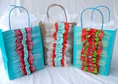 Another idea for fabric scraps.  Love this!