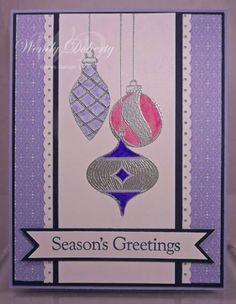 Embossed Ornaments by Wdoherty - Cards and Paper Crafts at Splitcoaststampers