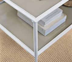 How to repaint metal furniture. This will come in handy for those ugly black frames.