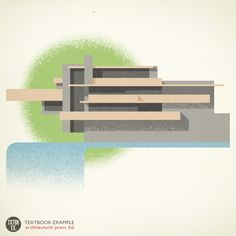 Illustration of Frank Lloyd Wright's Fallingwater by Textbook Example
