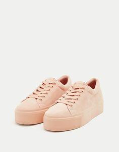 011887334 Bamba bloque monocolor - Zapatillas - Zapatos - Mujer - PULL&BEAR España