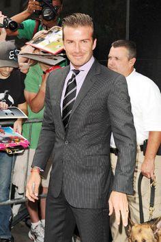 Slick suit / David Beckham