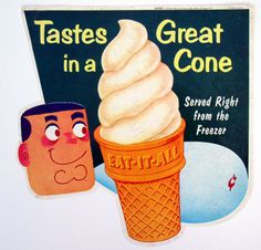 1960's ice cream sign