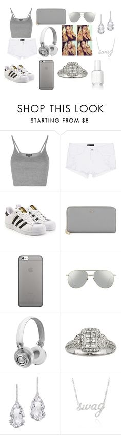"""""""Grey And White"""" by breezybrebre on Polyvore featuring beauty, Topshop, 3x1, adidas Originals, DKNY, Native Union, Linda Farrow, Master & Dynamic, Plukka and Belk & Co."""
