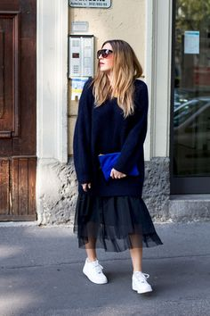 black palms milan downtown modeblogger travel tulle skirt oversize