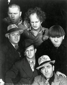 Three Stooges in and out of character 1930's