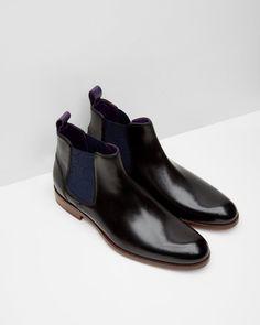 Leather Chelsea boots - Black | Footwear | Ted Baker UK