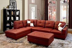 Modern Contemporary Red Faux Leather Sectional Sofa and Storage Ottoman Set iBevly http://www.amazon.com/dp/B00OXLVBSW/ref=cm_sw_r_pi_dp_d4qXub11VKD6T