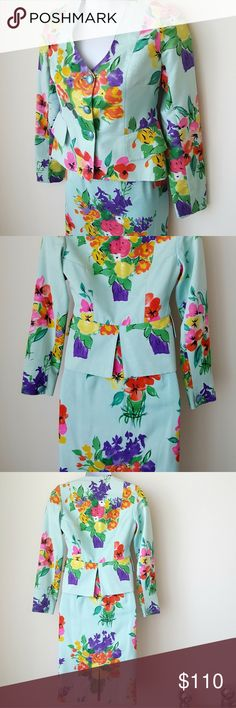 {Emanuel Ungaro Parallele}Suit Silk Floral Vintage I just added this listing on Poshmark: {Emanuel Ungaro …