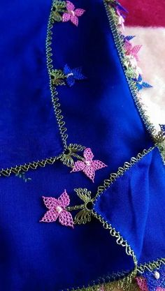 nazli-gelin-kelebek-oyasi - This Amazing Fall Eyeshadow Looks, Blue Eyeshadow Looks, Embroidery Suits Design, Embroidery Designs, Saree Tassels, Blackwork Embroidery, Hairpin Lace, Lesage, Point Lace