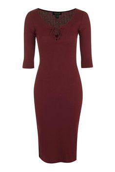 PETITE Lace Up Midi Bodycon Dress - Dresses - Clothing - Topshop USA