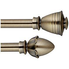 Buy John Lewis Antique Brass Curtain Pole Range, Dia.19mm Online at johnlewis.com