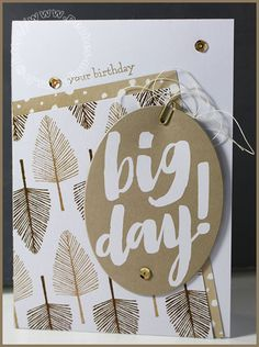 Big day ! - Carte Scrap #675 - Stampin'up! - Totally trees -