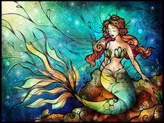The Serene Siren.by mandiemanzano.deviantart.com on @deviantART
