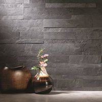 Shop for Aspect 6 x Charcoal Slate Peel and Stick Stone Backsplash. Get free delivery On EVERYTHING* Overstock - Your Online Home Improvement Shop! Get in rewards with Club O! Kitchen Tiles, Kitchen Countertops, New Kitchen, Kitchen Decor, Kitchen Floors, Country Kitchen, Backsplash Ideas For Kitchen, Countertop Options, Kitchen Appliances