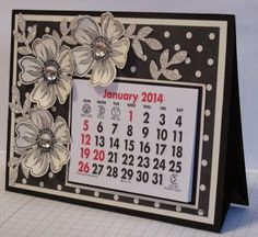 In My Craft Room - Stamping With Glenda: 2014 Calendar - Class Diy Calendar, Desk Calendars, Desktop Calendar, Card Making Templates, Fun Fold Cards, Easel Cards, Paper Gifts, Greeting Cards Handmade, Making Ideas