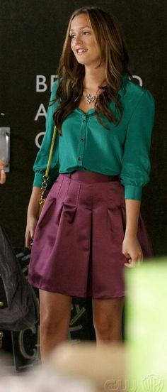 Blair toda trabalhada no colorblocking e mechas californianas | Gossip Girl <3