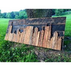 Hand Crafted Reclaimed Nashville Skyline by legacybuilding on Etsy