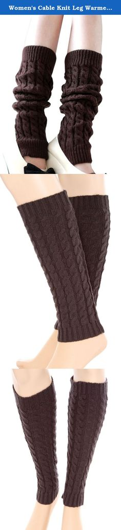 Women's Cable Knit Leg Warmers Ribbed Crochet Legging Long Boot Socks, Coffee. Versatile functional and stylish usage Pull down for a scrunch sock look, pull up to thigh as a leg warmer for slim adults or kids, or over your shoe for a boot look, even wear on arm as an arm warmer Soft and fashionable accessory to keep your legs warm for all ladies during cool and cold weather Fits loosely and perfect for layering, easily scrunched into boots Material: Acrylic Package Includes: 1 x Pair of…