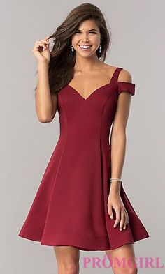 Short Semi-Formal Homecoming Party Dresses - PromGirl