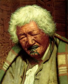 Kapi Kapi, aged 102 by Charles Goldie, Oil on canvas Maori Face Tattoo, Maori Words, Maori Symbols, Nz History, Maori People, New Zealand Landscape, New Zealand Art, Nz Art, Maori Art