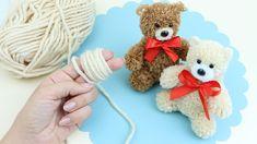 Fluffy Teddy Bear, Pom Pom Rug, Pom Pom Crafts, Homemade Toys, Bear Cubs, Amigurumi Toys, String Art, Diy Tutorial, Baby Toys