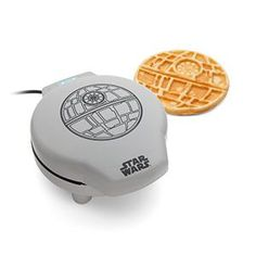 If you're ready to make your kitchen explode with awesome, you need a Death Star Waffle Maker. Plug it in, warm it up, and pour the batter onto the non-stick cooking plates. In just minutes, you'll have golden, delicious waffles.