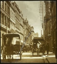 Little Collins St in Melbourne,Victoria (year unknown) Places In Melbourne, Melbourne Suburbs, Melbourne Street, Melbourne Victoria, Victoria Australia, Sydney Australia, World Images, Largest Countries, Historical Pictures