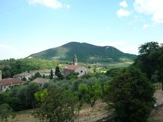 The little village of Arquà Petrarca on the Euganean Hills near Padua and Venice