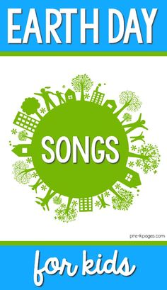 The best Earth Day songs for kids! Your preschool, pre-k, or kindergarten kids will love these teacher approved songs for celebrating Earth Day! Kindergarten Songs, Preschool Songs, Kids Songs, Preschool Themes, Earth Day Song, Earth Day Games, Earth For Kids, Love The Earth, Celebration Song