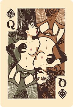Queen of spades by Leon Ryan