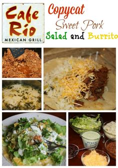 Cafe Rio Sweet Pork Burritos - Freeze this as a components Meal - The dressing doesn't work for us at all, serve with salsa/enchilada sauce and reg. ranch dressing/guacamole