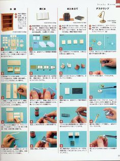 fuckyeahbookarts: DIY: Miniature Book Tutorial (by Cara Bevan) Miniature Crafts, Miniature Houses, Miniature Dolls, Dollhouse Tutorials, Diy Dollhouse, Dollhouse Miniatures, Dolly House, Doll House Plans, Vitrine Miniature