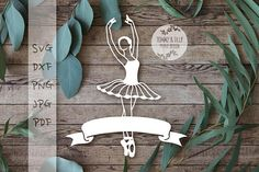 DONT FORGET OUR CURRENT OFFER !!!! Enter the code TOMMYANDTILLY30 in the coupon code box before checkout to receive 30% off when you order any 4 items. *****ITEM DESCRIPTION***** Ballerina Design - A perfect design for hand or machine paper cutting! Digitally traced from