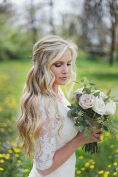 wedding hair down with veil - Google Search