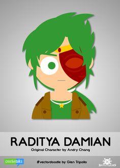 RADITYA DAMIAN, original character by Andry Chang. #VectorDoodle by Glen Tripollo