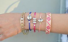 DIY: rhinestone cord bracelet