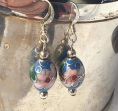 Beautiful Sterling Silver Cloisonne Bead Dangle by Statusjacker